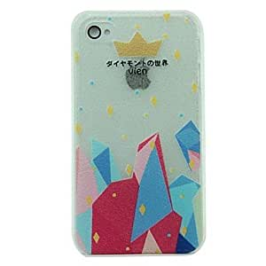 DUR Crown Pattern Hard Case for iPhone 4/4S