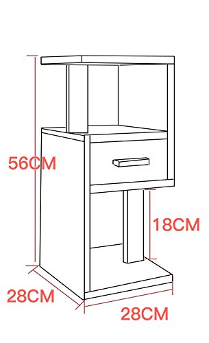 56CM multi-functional balcony rack /simple wood floor flower stand / indoor living room flower rack / bookshelf ( Color : D ) by Flower racks - xin