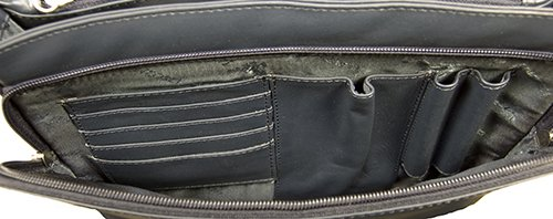 Atlantic - Umhängetasche / Organizer-Tasche für Damen - Echtleder - CLAUDIA 03190 - Marineblau Visconti 5tJ5nAIsRv