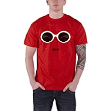 Nirvana T Shirt Red Sunglasses Band Logo Official Mens Red