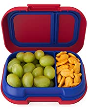 Bentgo Kids Snack - 2 Compartment Leak-Proof Bento-Style Food Storage for Snacks and Small Meals, Easy-Open Latch, Dishwasher Safe, Food-Safe Materials and BPA-Free