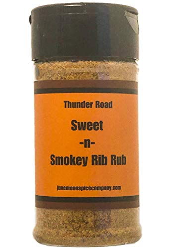 PREMIUM | Thunder Road SWEET-N-SMOKY BBQ Rib Dry Rub Seasoning | Crafted in Small Batches with Farm Fresh SPICES for Premium Flavor and Zest (Best Dry Rub For Baby Back Ribs)