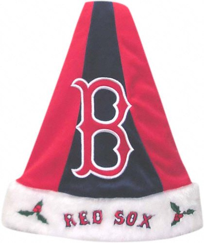 Boston Red Sox HIMO Colorblock Santa Hat -