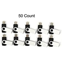 50 128MB Flash Drive - Bulk Pack - USB 2.0 128 MB Swivel Design in BLACK