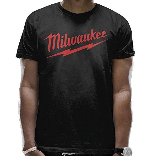 Addie E. Neff Power Tool Logo Milwaukee Father's Day Gift Unisex Fashion T-shirt Tee Tops For Mens Black Medium