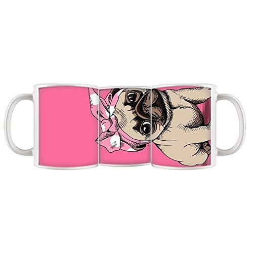- Babu Building Ceramic Girl Use As Mug Anti-Knock Print Pug Dog
