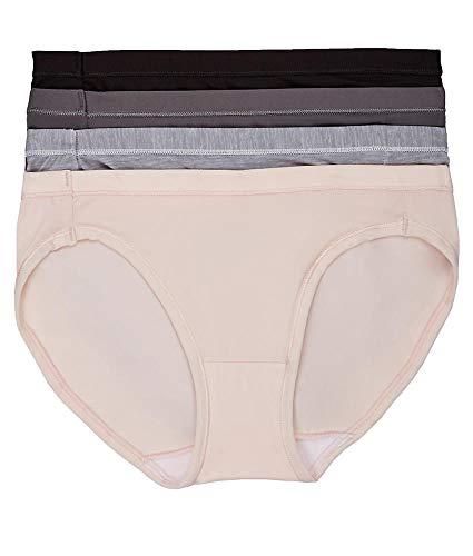 Hanes Women's Ultimate Cool Comfort Bikini, Buff/Silver/Grey/Black, - Panty Comfort Bikini