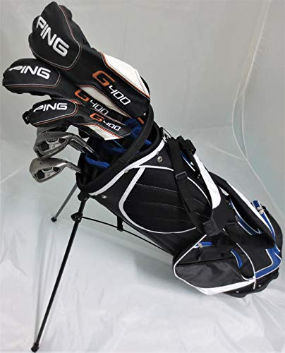 Ping Golf Set Mens Complete Driver, Wood, Hybrid, Irons, Putter, Clubs & Stand Bag Stiff