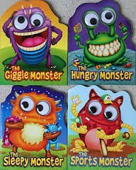 The Giggle, Hungry, Sleepy, & Sports Monster Googly-Eyed Board Books]()