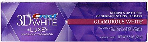 Crest 3D White Luxe Glamorous White Whitening Toothpaste - 5.5 oz - Vibrant Mint