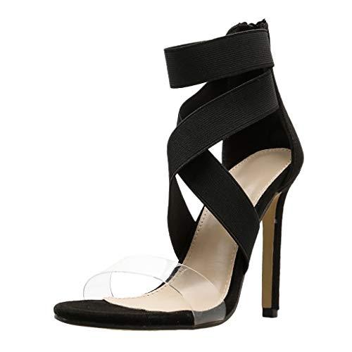 (OrchidAmor Fashion Sexy Women's Cross Strap Non-Slip Pumps Shoes Non-Slip High Heel Sandals 2019 Black )