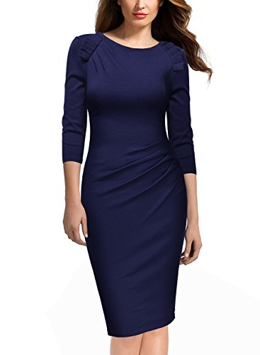 Missmay-Womens-Half-Sleeve-Navy-Style-Business-Cocktail-Pencil-Dress