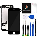for iPhone 7 Plus Screen Replacement Kit Black 5.5' LCD Display iPhone 7 Plus Replacement Touch Screen Digitizer Full Assembly with Front Camera+ Earpiece+ Repair Tools Kit+ Screen Protector (Black)