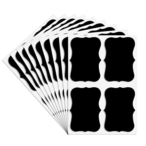36PCS Chalkboard Labels Stickers for Mason Jars,Self-Adhesive Removable Black JarS Labels ,Size 2