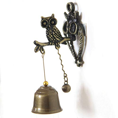 Zelro Dog Doorbells, Dog Training Bell with Solid Brass Bell for Potty Training Housetraining Houserbreaking (Owl)