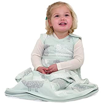 Merino Kids - Saco de Dormir - para bebé Stacked Sheep Light Green: Amazon.es: Ropa y accesorios