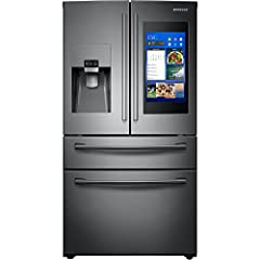 28 Cu. Ft. Capacity Family Hub Bixby Voice for Hands-Free Control FlexZone Drawer Adjustable Shelves Ice Master Twin Cooling Plus Wi-Fi Connectivity High Efficiency LED Lighting ENERGY STAR Fingerprint Resistant Black Stainless Steel Finish  ...