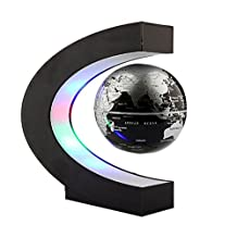 Denshine® C Shape Decoration Magnetic Levitation Floating Globe World Map