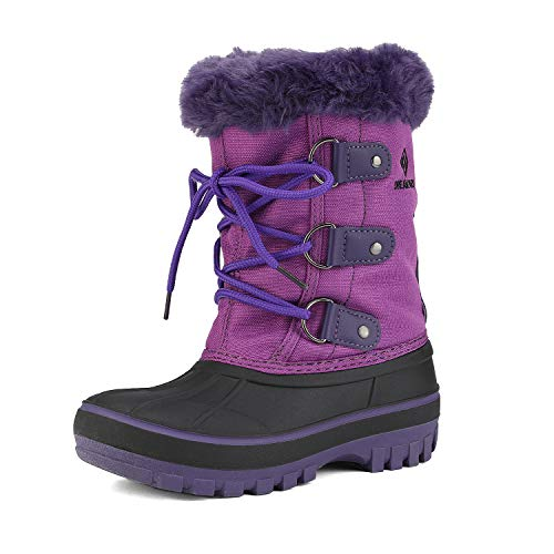 DREAM PAIRS Little Kid Forester Purple Ankle Winter Snow Boots Size 1 M US Little Kid
