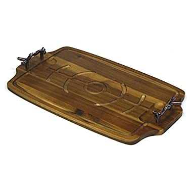 Mountain Woods Carving & Serving Board w/ Bronzed Handles *NEW & IMPROVED*