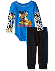 Disney Baby Boys' 2-Piece Mickey Mouse and Goofy Top and Pant Set