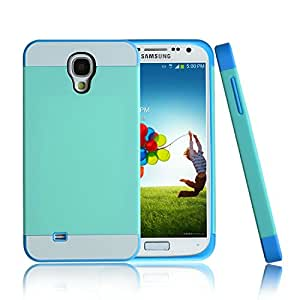 COOLMAX contrast color hard TPU case for Samsung Galaxy S4 (Retailer Package) (green+blue)