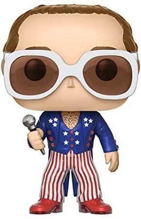 White Funko Pop!- Rocks: Elton John Red Blue 26295