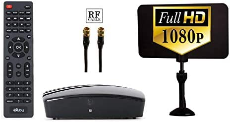 Digital TV Converter Box - Digital Antenna - RF and RCA Cable - Complete  Bundle to View and Record HD Channels (Instant or Scheduled Recording,  1080P