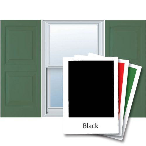 Alpha VNB1563BLRP 15-Inch by 63-Inch Raised Panel, Black, 2-Pack