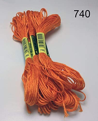 Color : 727, Specification : 6 Strands Embroidery Thread 10 Pieces Cross Stitch Similar Embroidery Thread Threads Cross Stitch Embroidery Thread
