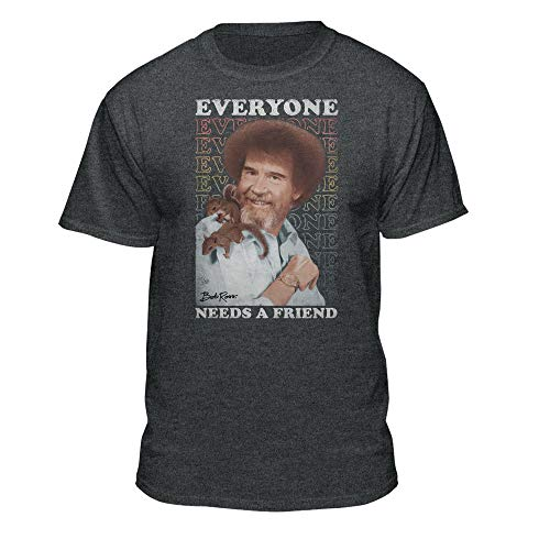 Teelocity Bob Ross Everyone Needs A Friend Graphic T-Shirt