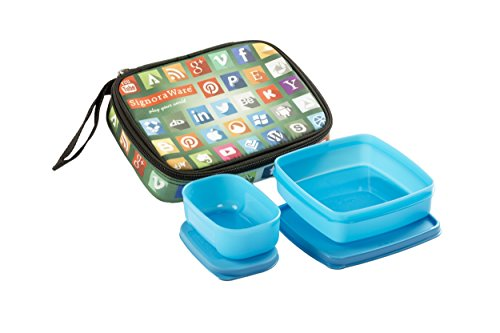 Signoraware Network Twin Smart Lunch Box Set, 2-Pieces, Blue