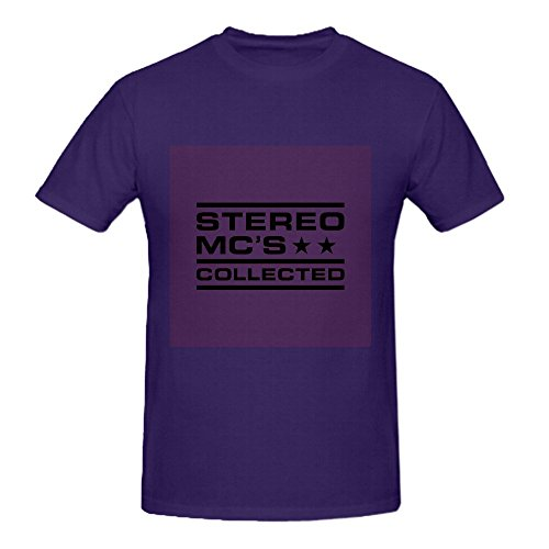 Stereo Mcs Colected Animals T Shirts For Men Purple