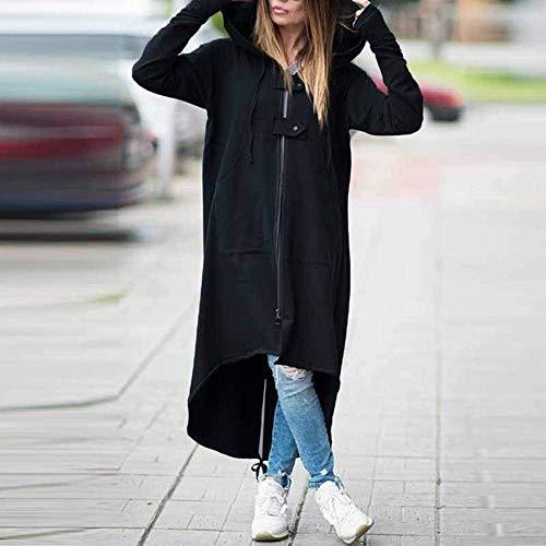 Vent Fashion Coupe Long à Coat Saoye Parka Trench Femme Capuche Schwarz Veste Manteau Jeune AqwgqBdv