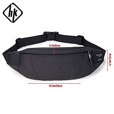 Autumn Water Pack Black Waterproof Money Belt Bag Men Purse Teenager's Travel Wallet Belt Male Waist Bags