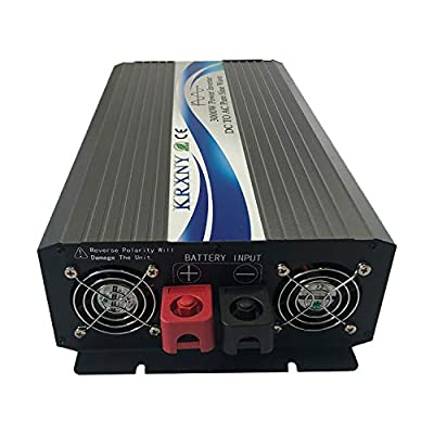 KRXNY 3000W 12V DC to 110V 120V AC Pure Sine Wave Power Inverter 60HZ with LCD Display for Car RV Home Solar: Car Electronics
