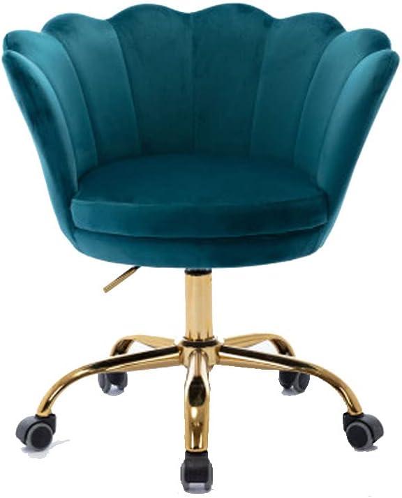 Velvet Swivel Shell Chair for Living Room/Bed Room, Modern (Lake Green)