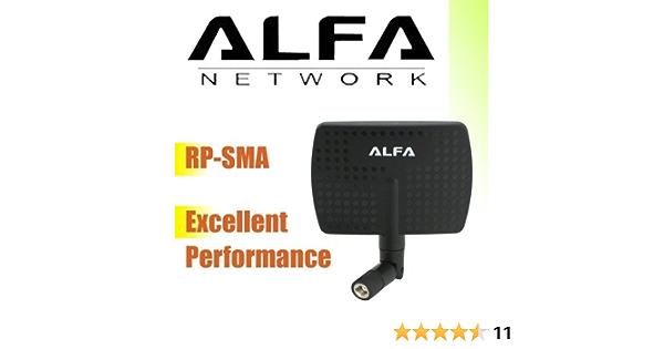 Alfa - Amplificador de señal de router (antena giratoria, 2,4 Hgz, 7 Dbi)