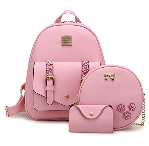 souple 24 main à multi Sac sac à cuir à femmes PU sac la en mode 12 casual 31cm des dos fonction PxwU4a