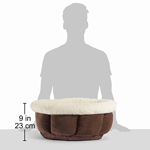 Best Friends by Sheri Small Cuddle Cup - Cozy, Comfortable Cat and Dog House Bed - High-Walls for Improved Sleep, Dark Chocolate by Best Friends by Sheri (Image #7)