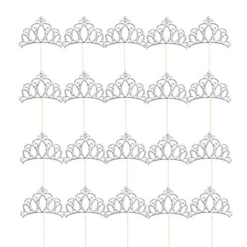 Small Tiaras For Cupcakes (20PCS Crown Cake Topper Cupcake Topper for Wedding Party)