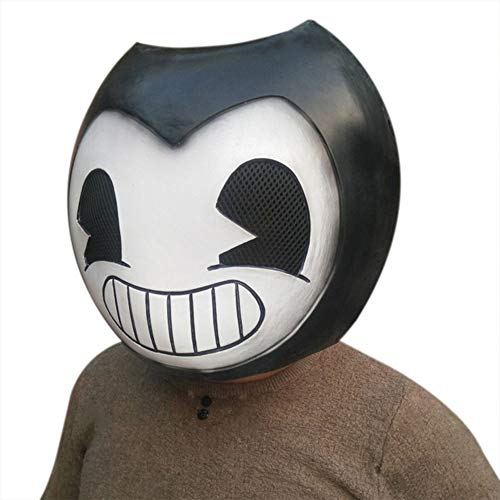 Halloween Accessory Full Face Cosplay Mask Latex Horror Ink Machine Mask (Picture Color) -