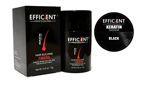 Hsr Perfect Effect - EFFICIENT Keratin Hair Building Fibers, Hair Loss Concealer, 12 gm/0.42 oz., Black