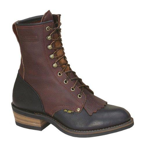 Heren 9in Western Packer Boots Tuimelen Two Tone Tuimelen Two Tone