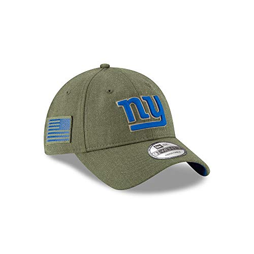 (New Era Mens NFL 2018 Salute to Service 9Twenty Strapback Hat (New York Giants))