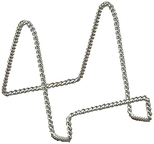 TRIPAR 23-1236 9.16 Inch Chrome Twisted Wire Stand - Twisted Stand Ornament Wire