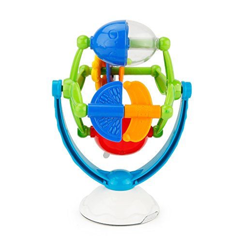 Lanlan Spinning Turntable Toy With High Chair Suction Cup and Music for Baby Rotatable Intellectual Development Rotary Windmill Toy for $<!--$12.99-->