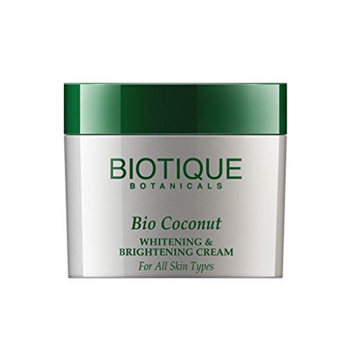 Biotique Botanicals Bio Coconut Отбеливание и осветление крем, 1,9 унции