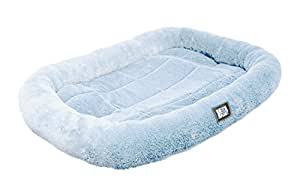 Animal Planet Bolster Pet Bed, Medium (29x19 inches), Light Blue