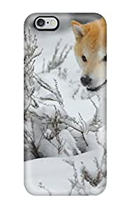 Iphone 6 Plus Well Designed Hard Case Cover Beautiful Dog Running In The Snow Protector
